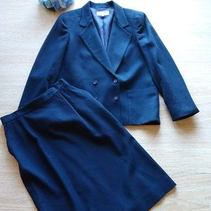 Christian Dior Separate VTG'80s Wool Suit & Skirt